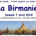 Soirée sur la Birmanie le samedi 7 Avril prochain en Normandie