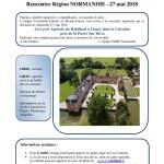Rencontre Région Normandie le dimanche 27 Mai prochain