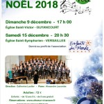Concert de Noël le samedi 15 décembre prochain à Versailles