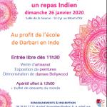 Repas indien à St-Cyr au Mont d'Or près de Lyon le 26 janvier 2020