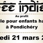 Soirée indienne dans les Vosges le 21  Mars  prochain